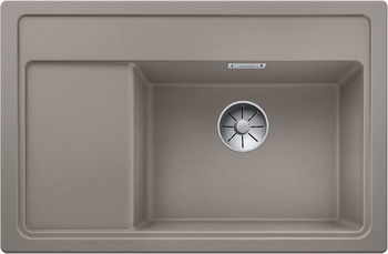 Кухонная мойка BLANCO ZENAR XL 6S Compact серый беж чаша справа доска стекло c кл.-авт. InFino 523761 кухонная мойка blanco zenar xl 6s compact шампань чаша справа доска стекло c кл авт infino 523760