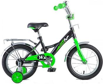 Велосипед Novatrack 14'' STRIKE чёрный-зелёный 143 STRIKE.BKG8 велосипед novatrack boister 12 2015 blue 125boister bl5