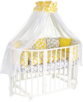 Комплект в кроватку Sweet Baby Tenero Giallo (желтый/серый) 8 предметов цена