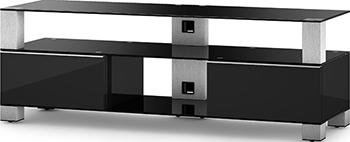 Тумба под телевизор Sonorous MD 9140 B-INX-BLK подставки под телевизоры и hi fi md 509 1812 b planima черный дымчатое стекло