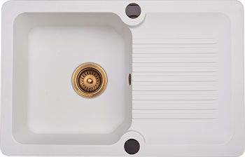 Кухонная мойка Kuppersberg ANCONA 1B1D WHITE (7029)