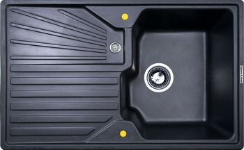Кухонная мойка Zigmund amp Shtain KASKADE 800 темная скала кухонная мойка zigmund amp shtain eckig 800 черный базальт