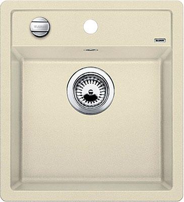 Кухонная мойка BLANCO DALAGO 45 SILGRANIT жасмин с клапаном-автоматом кухонная мойка blanco dalago 45 silgranit жемчужный с клапаном автоматом