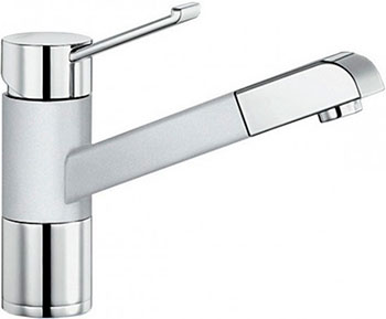 Кухонный смеситель BLANCO ZENOS-S хром/белый  смеситель zenos s chrome alumetallic 517820 blanco