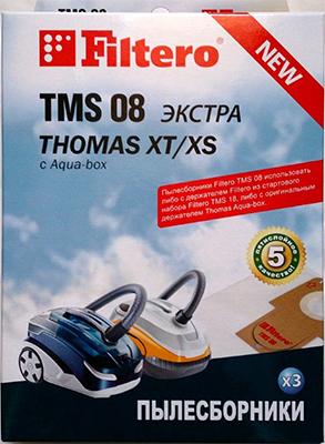 Набор пылесборников Filtero TMS 08 (3) ЭКСТРА набор пылесборников filtero brk 01 3 экстра