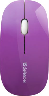 где купить Мышь Defender NetSprinter MM-545 фиолетовый белый 52547 дешево