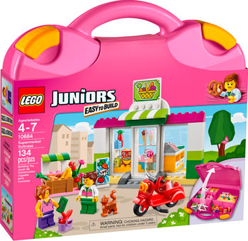 lego lego juniors 10673 ралли на гоночных автомобилях Конструктор Lego Juniors Чемоданчик Супермаркет 10684