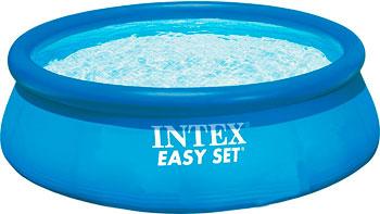 Надувной бассейн для купания Intex Easy Set с насосом 244х76 см бассейн надувной intex easy 28144 56930
