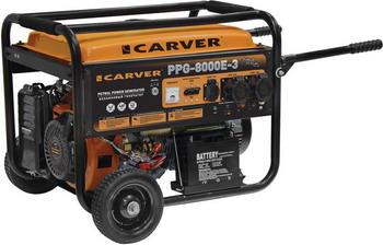Электрический генератор и электростанция CARVER PPG-8000 E-3 01.020.00013 электрический генератор и электростанция dde dpg 10553 e