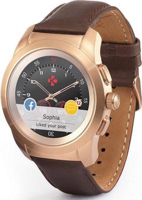 цена Часы MyKronoz ZeTime Premium Regular (KRZT1RP-BPG-BRLEA) матовое розовое золото в интернет-магазинах