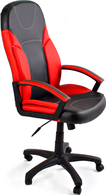 Кресло Tetchair TWISTER (кож/зам черный красный PU 36-6/PU 36-161) ladies pu leather wallets zipper