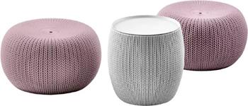 Комплект мебели Keter Cozy Urban Set св.фиолетовый серый 17202493/СВ.ФИОЛ. стол keter futura 17197868
