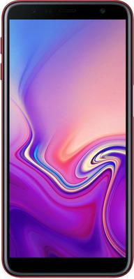Смартфон Samsung Galaxy J6+ (2018) SM-J 610 F красный смартфон samsung galaxy a8 2018 black sm a530f exynos 7885 2 2 4gb 32gb 5 6 2220x1080 16mp 16mp 8mp 4g lte 2sim android 7 1 sm a530fzkdser