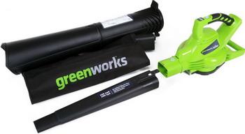 Воздуходувка-пылесос Greenworks GD 40 BVK6 24227 UF автомобильный пылесос greenworks g24hv 4700007
