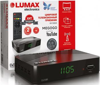 Цифровой телевизионный ресивер Lumax DV 1105 HD цифровой телевизионный ресивер lumax dv 2118 hd