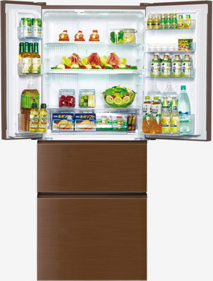 Многокамерный холодильник Panasonic NR-D 535 YG-T8 коричневый panasonic nr b510tg t8 refrigerator touch control panel the new generation econavi light sensor intelligent inverter