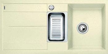 Кухонная мойка BLANCO METRA 6 S-F жасмин с клапаном-автоматом blanco metra 45s f с клапаном автомата аллюметаллик