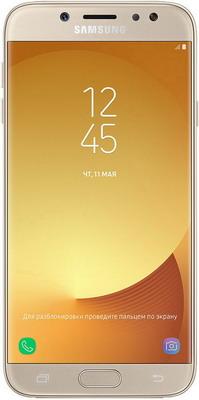 все цены на  Мобильный телефон Samsung Galaxy J7 (2017) золотой  онлайн