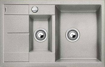 Кухонная мойка BLANCO METRA 6S COMPACT SILGRANIT жемчужный с клапаном-автоматом кухонная мойка blanco metra xl 6s silgranit темная скала с клапаном автоматом