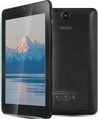 Планшет Ginzzu GT-7040 черный планшет ginzzu gt x770 black mtk8735m 1