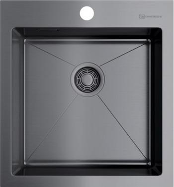 Кухонная мойка OMOIKIRI AKISAME 46-GM вороненая сталь (4973095)