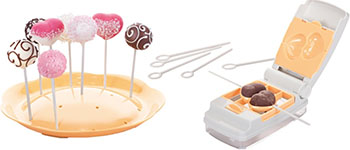 Формочки для пирожного cake pops Tescoma cake pops DELICIA 6 видов 630876 6 cavity mini bundt savarin cake silicone mold chocolate dount cookie baking pan