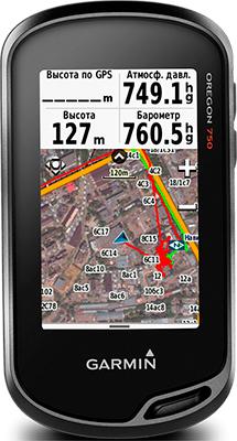 Навигатор Garmin Oregon 750 t с картами России ТОПО6 (черно-серый) garmin oregon 750t