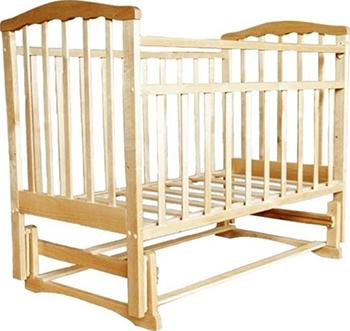 Детская кроватка Агат Золушка-3 классическая  маятник поперечный  Светлый обычная кроватка агат 52103 золушка 3 вишня