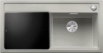 Кухонная мойка BLANCO ZENAR XL 6S (чаша справа) SILGRANIT жемчужный с кл.-авт. InFino 523947 кухонная мойка blanco zenar xl 6s compact шампань чаша справа доска стекло c кл авт infino 523760