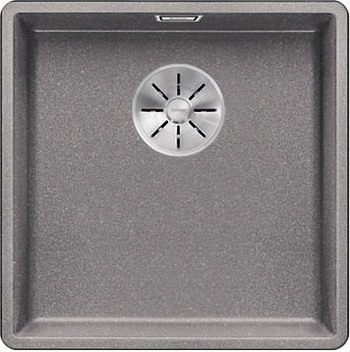 Кухонная мойка BLANCO SUBLINE 400-F алюметаллик с отв.арм. InFino 523495 мойка subline 400 f jasmine 519800 blanco