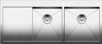 Кухонная мойка BLANCO ZEROX 8S-IF/А (чаша справа) нерж. сталь зеркальная полировка с клапаном-автоматом 521649 мойка кухонная blanco zenar 45s чаша справа белый с клапаном автоматом 519255