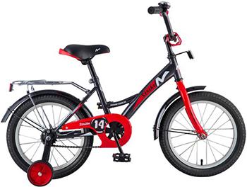 Велосипед Novatrack 14'' STRIKE чёрный-красный 143 STRIKE.BKR8 велосипед детский novatrack urban цвет красный черный 16