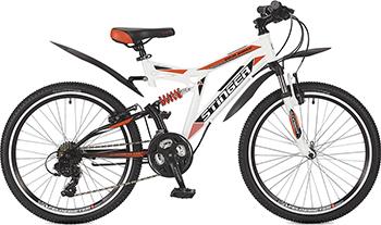 Велосипед Stinger 24'' Highlander 200 V 14'' белый 24 SFV.HILAND2.14 WH7 велосипед stinger valencia 2017