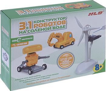 Интерактивный конструктор HLB роботы на соленой воде 3 в 1 1CSC 20003277 конструктор развивающий hlb автомобиль на соленой воде