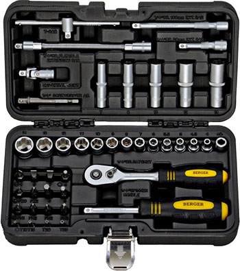 Набор инструментов разного назначения BERGER BG 043-14 универсальный набор инструментов 45 предметов berger bg bg045 14