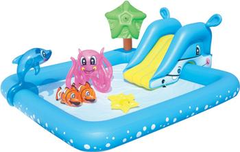 Игровой бассейн BestWay ''Аквариум'' 239х206х86 308л с брызгалкой и принадлежностями для игр. 53052 BW