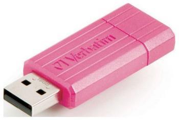 Флеш-накопитель Verbatim 16 Gb PinStripe 49067 USB2.0 розовый usb flash накопитель verbatim pinstripe 16gb green