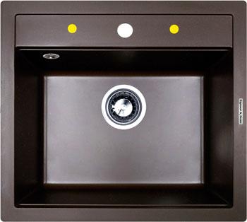 Фото Кухонная мойка Zigmund amp Shtain PLATZ 560 швейцарский шоколад