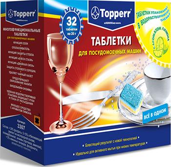 Таблетки для посудомоечных машин Topperr 3307 таблетки для посудомоечных машин snowter 5 в 1 16 шт x 20 г