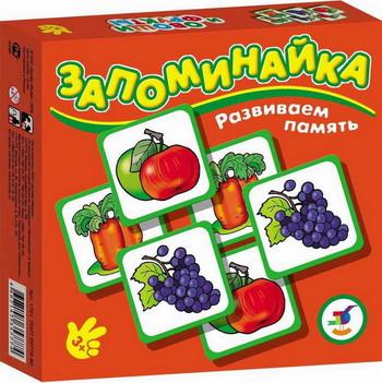 Настольная игра Дрофа Запоминайка Овощи и фрукты