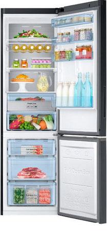 Двухкамерный холодильник Samsung RB 37 K 63412 C гирлянда электрическая гирляндус амаретто из ниток led от батареек 10 ламп 1 5 м