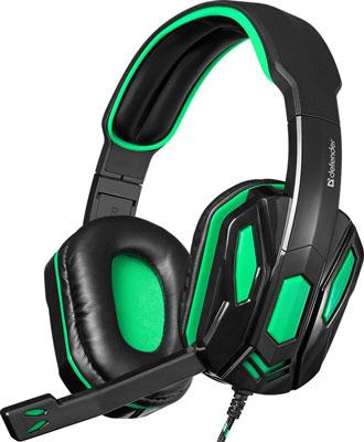 Игровая гарнитура Defender Warhead G-275 зеленый черный (64122) louis will зеленый проводной контроллер
