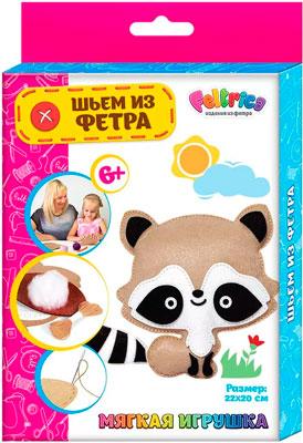 Набивная игрушка Feltrica ''Шьем из фетра'' Енот 4627104426947 набор шьем из фетра чехол для телефона холодное сердце docha