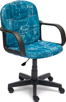 Офисное кресло Tetchair BAGGI (ткань принт ''Джинса'') кресло tetchair step ткань джинса