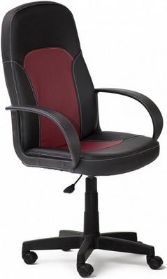 Кресло Tetchair PARMA (кож/зам черный бордо PU -36-/  -7)