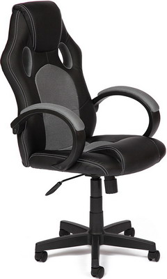 цена на Кресло Tetchair RACER GT (кож/зам ткань черный/серый 36-6/12)