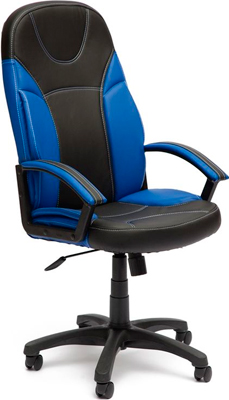 Кресло Tetchair TWISTER (кож/зам черный синий PU C-36-6/PU C 36-39) ladies pu leather wallets zipper