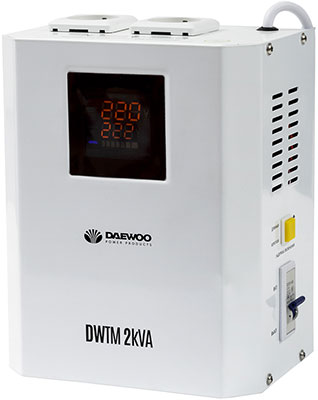 Стабилизатор напряжения Daewoo Power Products DW-TM2kVA стабилизатор daewoo dw tzm500va basic line