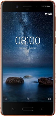 Смартфон Nokia 8 Dual sim COPPER + наушники беспроводные JBL V 310 BT relaxgo 5 android touch car dvr gps navigation rearview mirror car camera dual lens wifi dash cam full hd 1080p video recorder