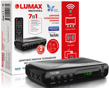 Фото - Цифровой телевизионный ресивер Lumax DV 1108 HD цифровой телевизионный dvb t2 ресивер bbk smp022hdt2 черный